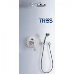 Tres Tres-Pol 07488007 Zestaw natryskowy z baterią podtynkową