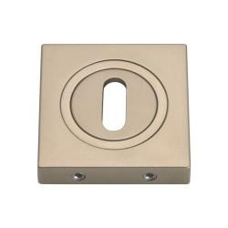 Szyld kwadratowy GAMET nikiel satynowy - NA KLUCZ - PLT-25-N-06-KW