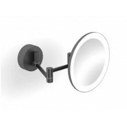Lusterko kosmetyczne z podświetleniem LED Czarny Mat Stella - 22.00230-B