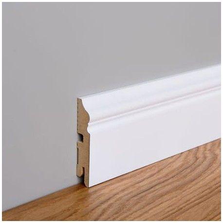Listwa przypodłogowa MDF Foge LB3 8cm biały półmat