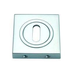 Szyld kwadratowy GAMET chrom - NA KLUCZ - PLT-25-N-04-KW