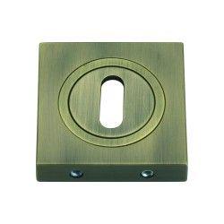 Szyld kwadratowy GAMET mosiądz antyczny - NA KLUCZ - PLT-25-N-AB-KW