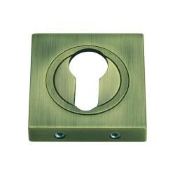 Szyld kwadratowy GAMET mosiądz antyczny - NA WKŁADKĘ - PLT-25-Y-AB-KW