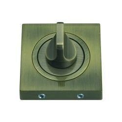 Szyld kwadratowy GAMET mosiądz antyczny - BLOKADA WC - PLT-25WC-AB-KW