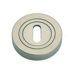 Szyld okrągły GAMET nikiel satynowy - NA KLUCZ - PLT-25-N-06