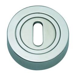 Szyld okrągły GAMET chrom satynowy - NA KLUCZ - PLT-25-N-08