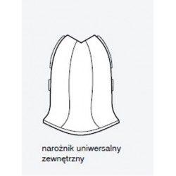 Narożnik uniwersalny zewnętrzny Salag NGF56 pod kolor listwy przypodłogowej