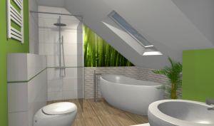 Łazienki poddasze