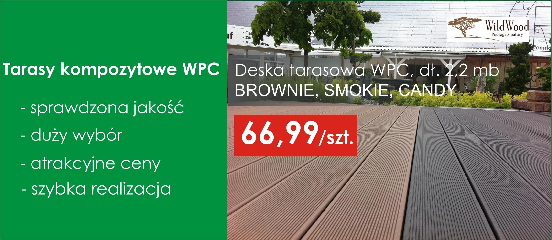 Taras kompozytowy WPC w super cenie !