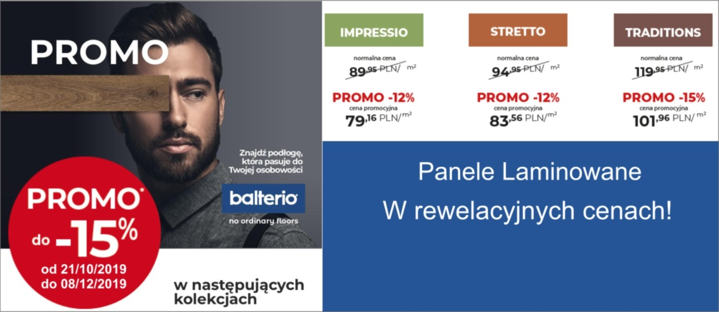Promocja Podłogi Balterio - rabat do 15 %