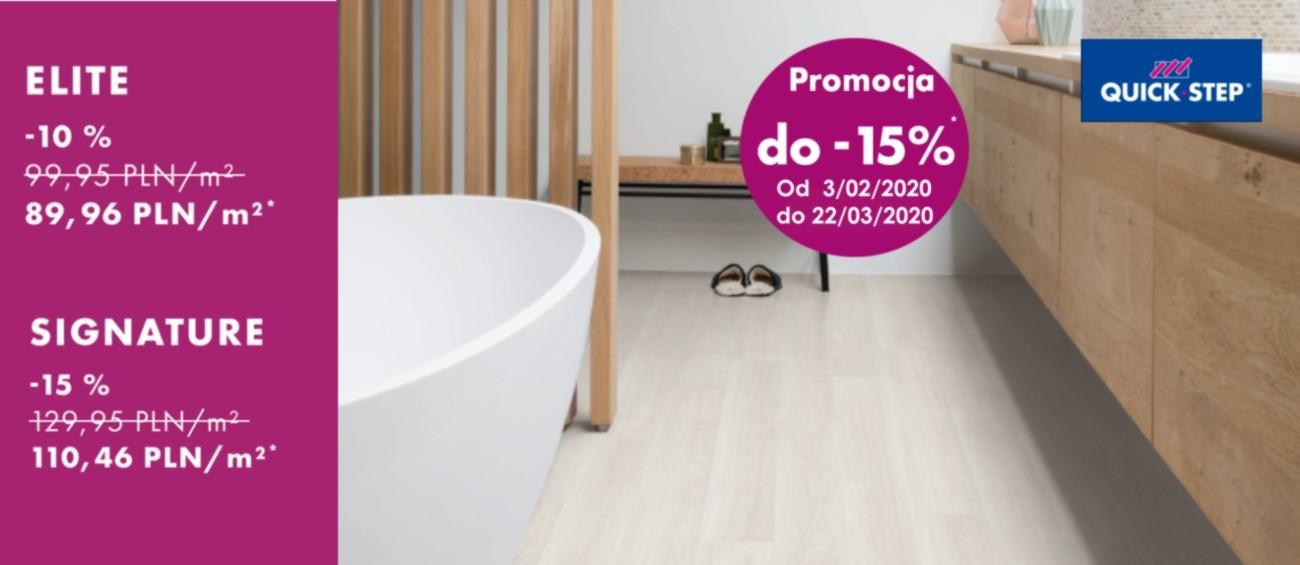 Panele Quick Step promocja - 15 %