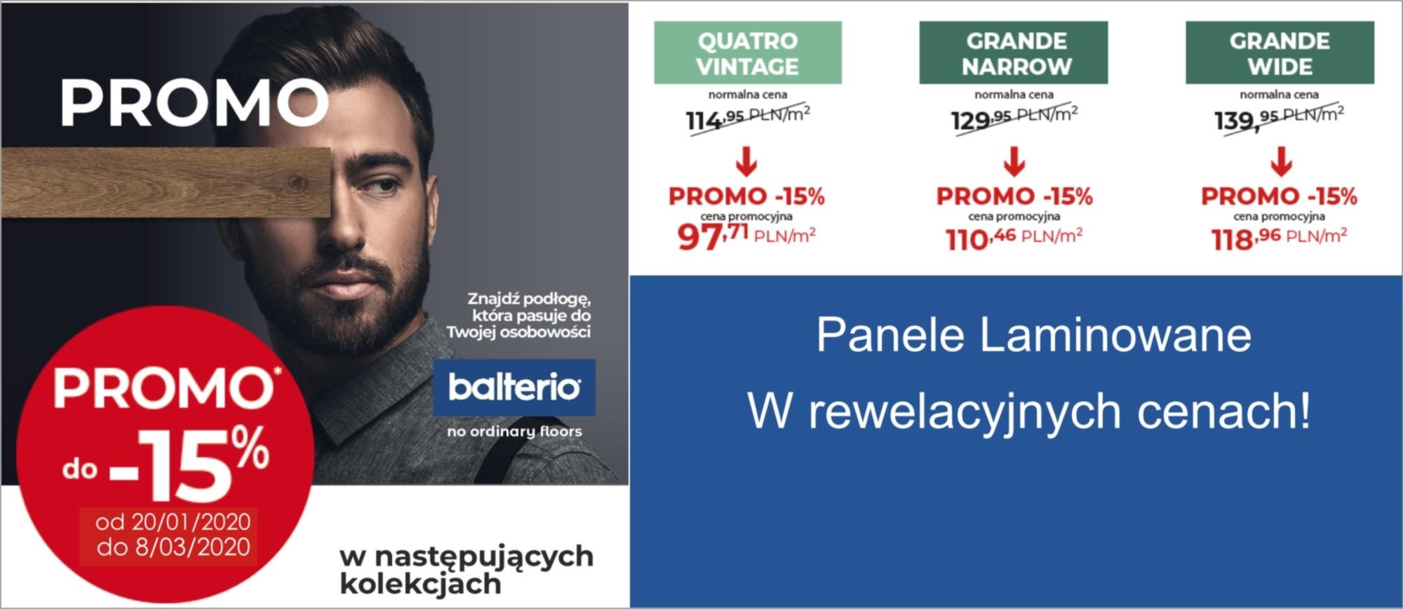 Panele Balterio Rabat 15 %