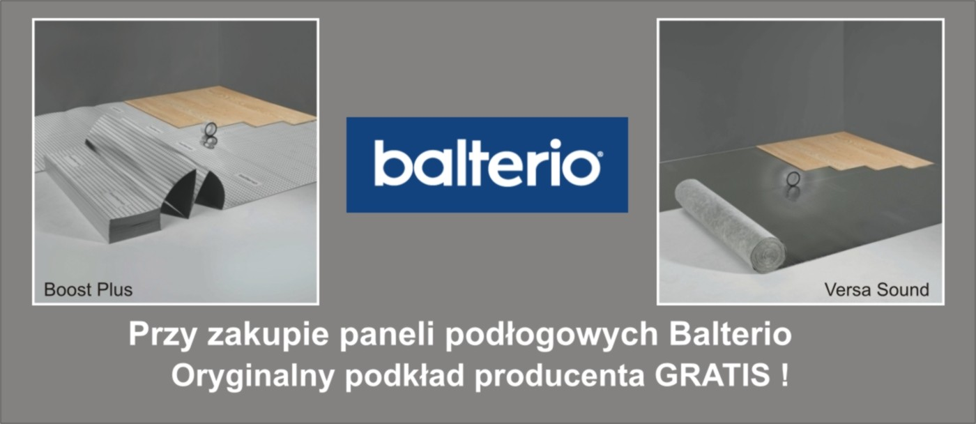 Promocja Panele Balterio z podkładem gratis