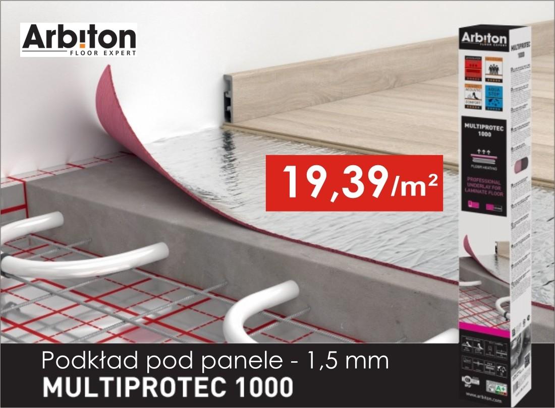 Podkład pod panele Multiprotec 1000 grubość 1,5 mm w niskiej cenie!